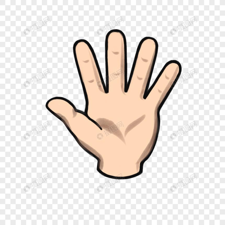 手指类卡通手绘风手掌元素素材下载-正版素材401009820-摄图网