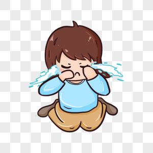 跪着哭泣的女孩图片