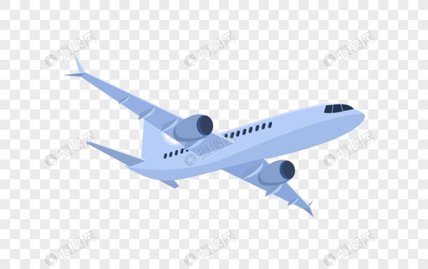 扁平飞机图片