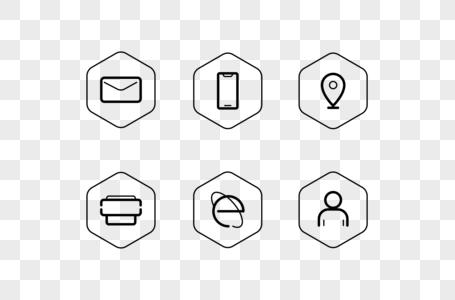 名片简历矢量线框图标icon图片