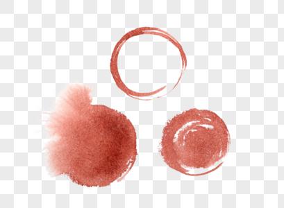 水彩红色水墨图片