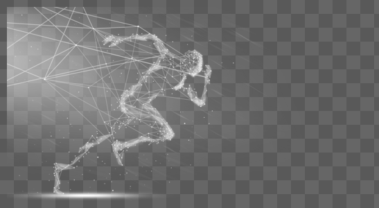 奔跑的人线条图片