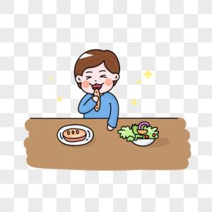 吃东西的男孩图片