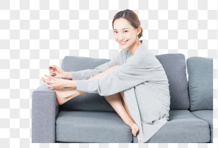 涂脚指甲的女性图片