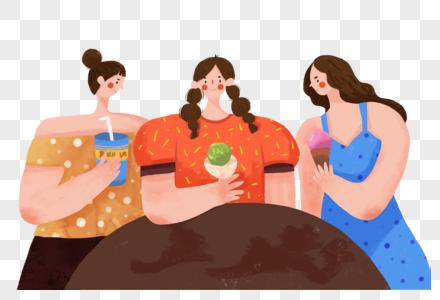 吃东西的女人图片