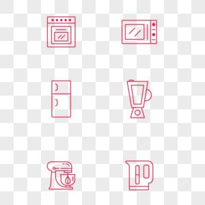 简约小清新厨房电器icon图标图片