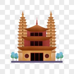 云南崇圣寺三塔地标图片