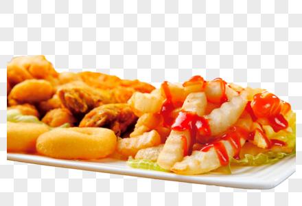 薯条油炸食品图片