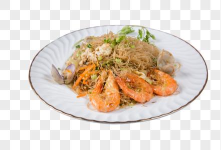 鲜虾扇贝炒河粉图片