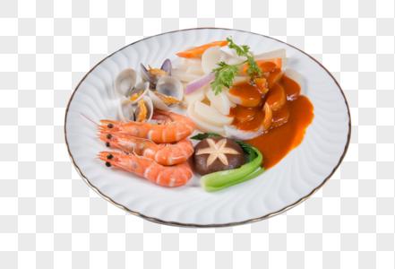 鲜虾炒年糕图片