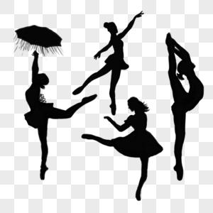 芭蕾剪影图片