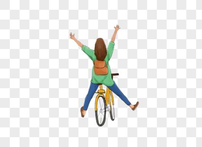 骑自行车踏青图片