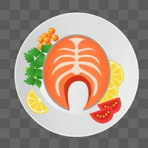 扁平美食柠檬鱼图片