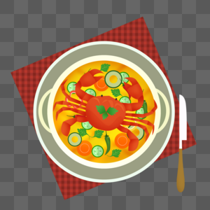 扁平螃蟹图片