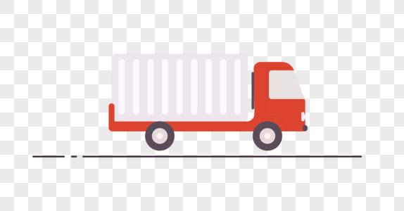 红色货车图标图片