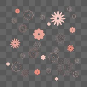 花儿底纹背景装饰矢量素材图片