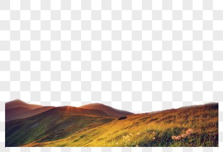 落日山丘图片