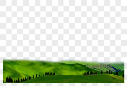 绿色山丘图片