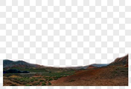 远处山丘图片