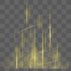 黄色炫彩光效图片