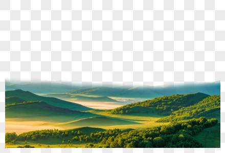 连绵山丘图片