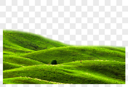 绿色延绵小山丘图片