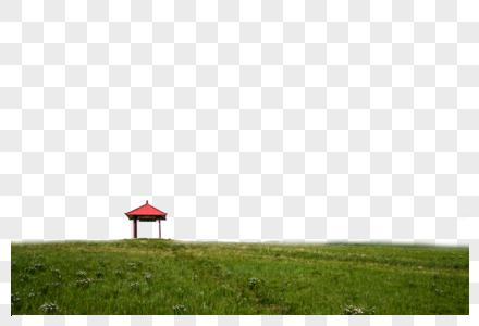 山丘小亭子图片
