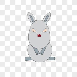 元素兔子表情卡通晕得天旋地转表情图图片