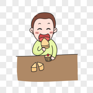 吃蛋糕图片