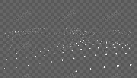 3D粒子波浪艺术背景图片