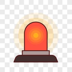 警示灯插画元素图片