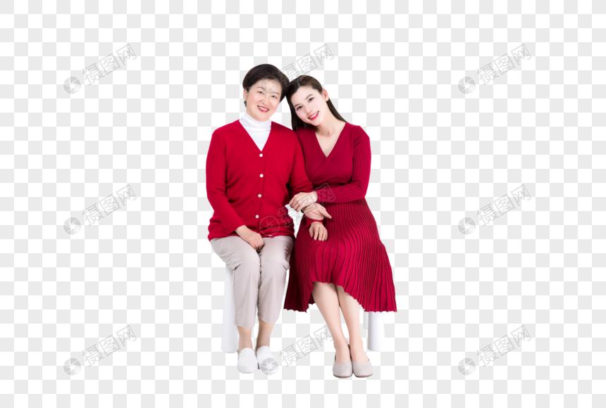 相互依偎的母女图片