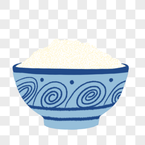 一碗大米饭图片