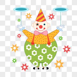 41愚人节转盘子的变戏法小丑图片