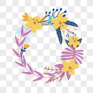 温馨花卉母亲节边框花边图片