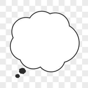 思考气泡对话框图片
