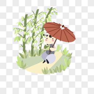 撑伞的牧童图片