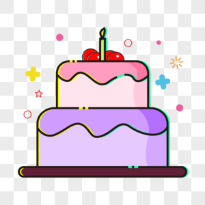 扁平蛋糕图片