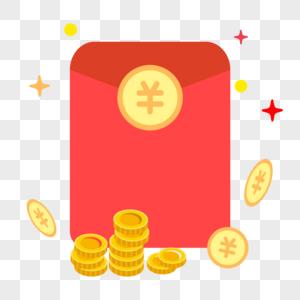 矢量钱包金币图标图片