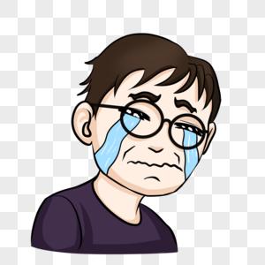 哭泣男图片