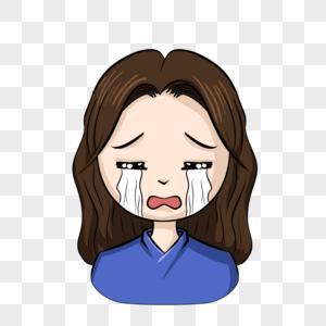 哭泣女图片
