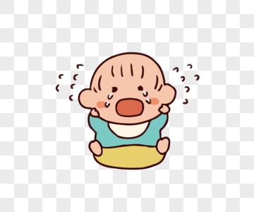 哭泣的宝宝图片