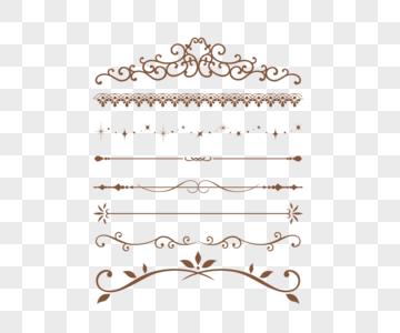 欧式装饰线条图片