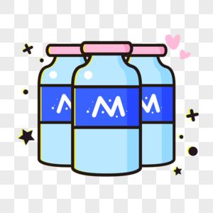 手绘瓶装牛奶图片