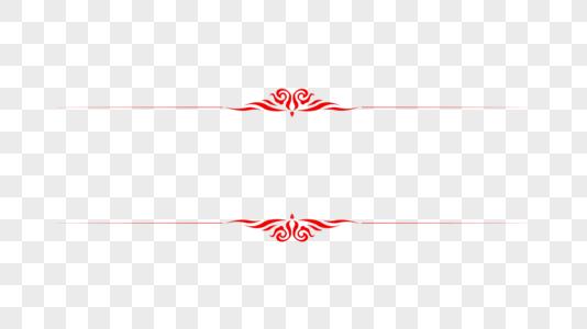 创意中国风红色花纹边框图片