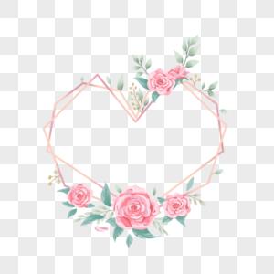母亲节爱心玫瑰花环图片