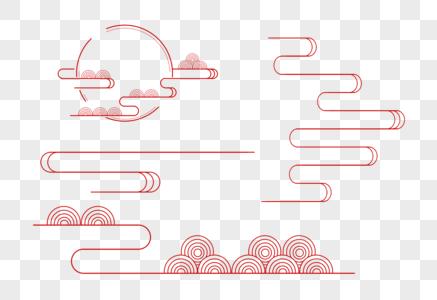 中国古典云纹图案一组图片