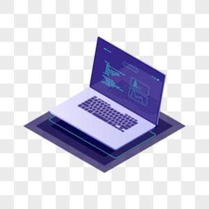 科技感电脑矢量图片