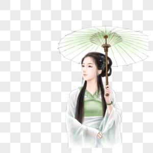 打伞的古风美女图片