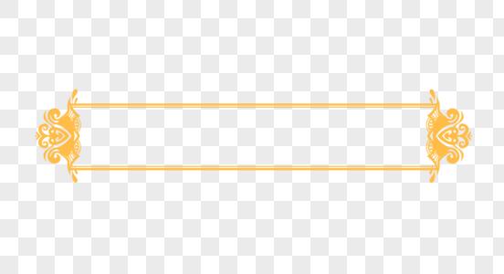 创意中国风金黄色花纹边框图片